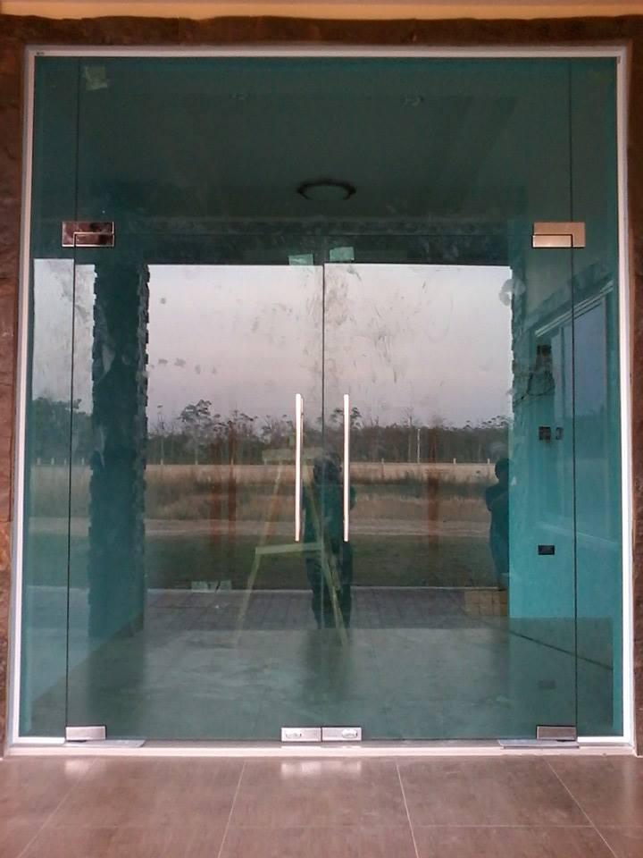 ประตู กระจกบานเปลือย บน-ล่าง แบบคู่