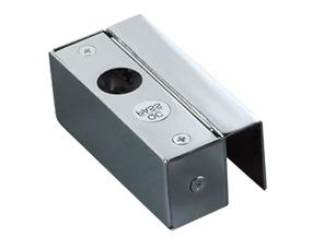 U Bracket Electric Bolt กับประตูกระจกที่เป็นบานเปลือยล่าง