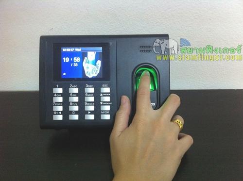 เครื่องสเเกนลายนิ้วมือราคาถูก zk รุ่น thai01